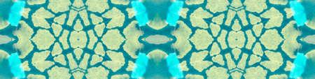 Hand Made Repeated Random Shapes Art. Aqua Menthe Geometric Pattern. Seamless Minty Green Geometric Design. Spanish Mosaic. Ornamental Blueish Green Animal Skin. Turquoise Tribal Design. Stock fotó