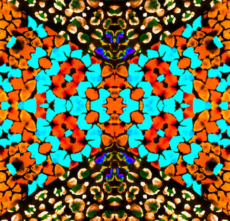 Yellow and Blue Animal Pattern. Orange and Green Snake Print. Brown and Red Giraffe Skin. Party Leopard Pattern. Tiger Pattern. Shiny Savannah . Psychedelic Dirty Abstract.