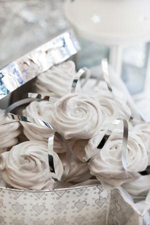 zephyr: Homemade zephyr (russian marshmallows) in a gift box