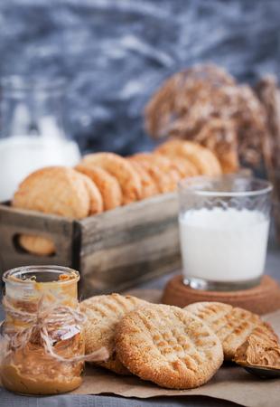 Homemade freshly baked peanut butter cookies