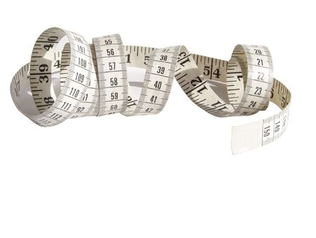stitchcraft: metre measure ruler isolated on the white background