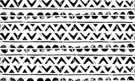 Geometric background. Geometric wallpaper. Abstract element. Modern art. Linocut texture. Indie background. Hippie background. Ethnic pattern. Vector Illustratie