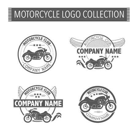 racing bicycle: Vector motorcycle club logo template. Illustration