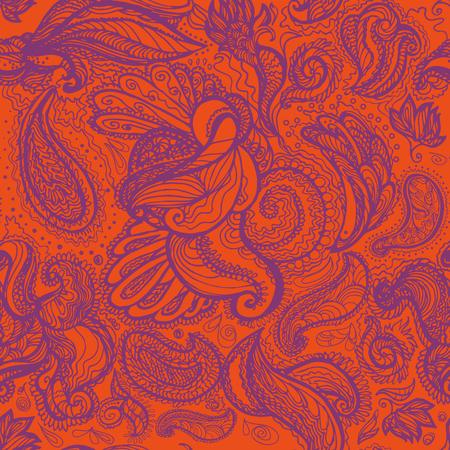 mhendi: Mhendi pattern vector. Floral henna pattern on white background. Illustration