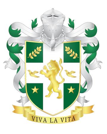 Vector heráldico crestas escudo de armas real. plantilla Heráldica Foto de archivo