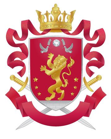 Vector heraldic royal crests coat of arms. Heraldry template