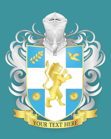 Vector heraldic royal crests coat of arms. Heraldry shield template. Reklamní fotografie