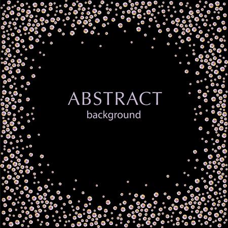 검은 배경에 추상 라인 석 튄의 그림입니다. 포스터 나 전단지 디자인, 엽서 또는 초대 템플릿에 대한 좋은 모조 다이아몬드 패턴입니다.