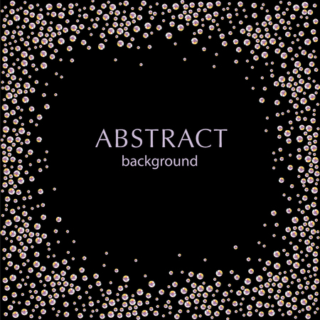 Picture of abstract rhinestone splatter on black background. Rhinestone pattern good for poster or leaflet design, postcard or invitation template.