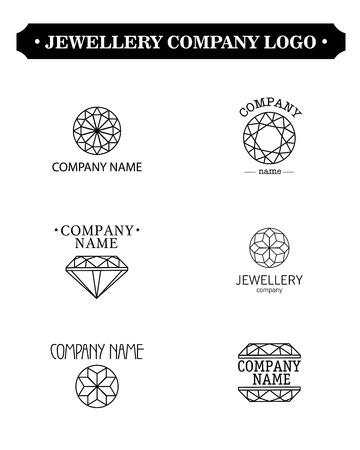 jewellery: Vector diamond logo set. Jewellery logo collection. Rhinestone company.