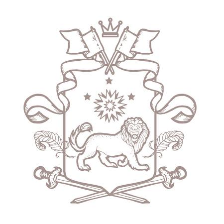 Vector Heraldischen Königlichen Wappen Mantel Der Arme. Heraldik ...