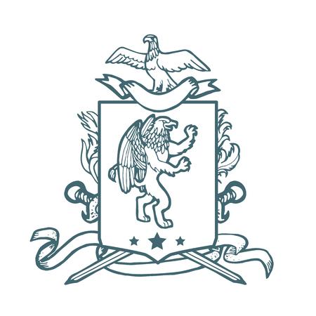 Vector Heraldische Königlichen Wappen Mantel Der Arme. Heraldik ...