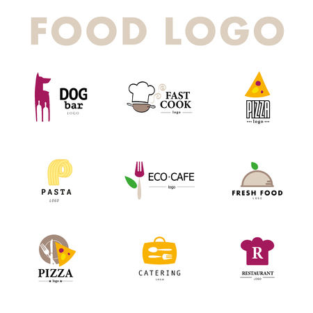 ecology icons: Vector set of restaurant  design tempaltes.