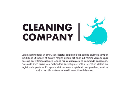 clearing: Vector flat logo design for cleaning company. Clearing service insignia. Cleaning industry icons and symbols.