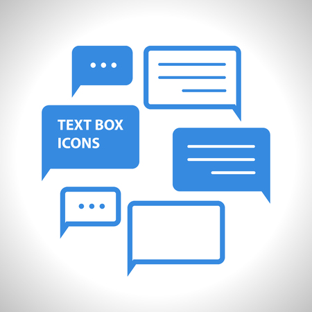 converse: Vector collection of flat text balloons. Interface design elements.