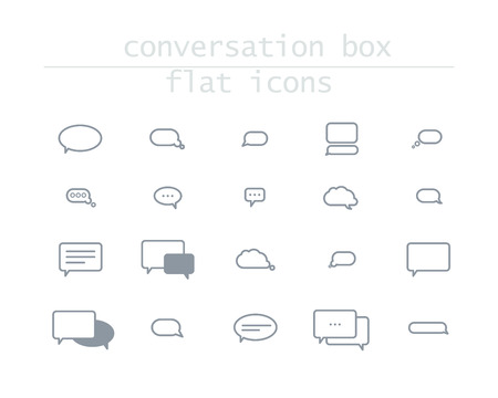 chat icon: Vector collection of flat text balloons. Interface design elements.