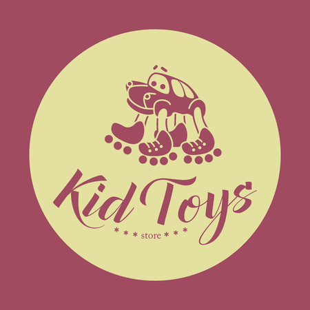 vector sample: Hand drawn vector sample of baby logo. Kids fashion label design. Children clothes brand. Baby and kid store insignia.