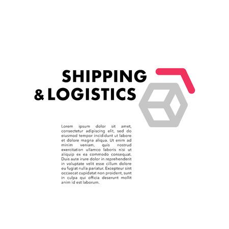 물류 및 배달 회사 벡터 플랫 로고 템플릿을 벡터. 배송 서비스 휘장 디자인.
