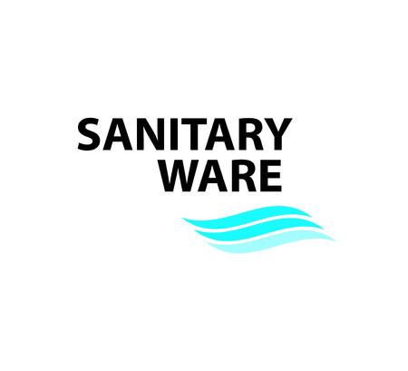 Vector flat sanitary and hygienic company insignia template. Sanitary service logo design.