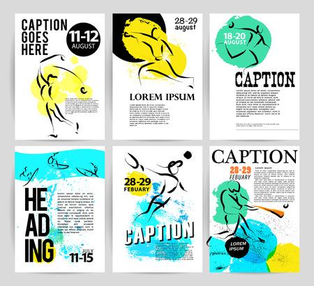 sportsman: Vector hand drawn athletes. Sportsman sketches. Ink drawing. Good for advertising, print design, magazine illustration. Illustration