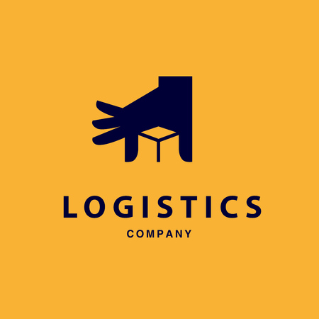 logo icons: Vector flat logo template for logistics and delivery company. Shipping service insignia design.