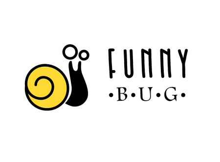 clothes shop: Vector flat bug logo design. Simple beetle icon. Good for kid toys store or clothes shop.