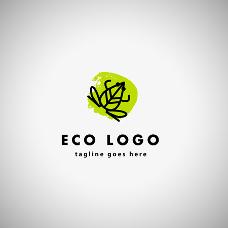 Vector simple flat logo with frog character. Cute friendly frog illustration. Logo and insignia template good for animal, pet store, children toys shops, zoo markets, eco companies and business.