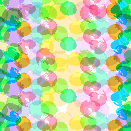 multiply: Vector abstract seamless background with hand drawn paint elements. Bright colored multiply ink drops and spots splattered isolated on white background. Pattern is good for package design, prints, any graphic design. Illustration