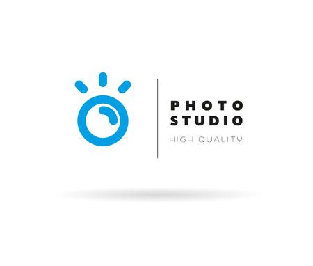 Modelo del vector de la insignia de la foto moderna plana. Diseño de la foto logothype digital. Simple y minimalista foto icono. Bueno para estudio fotográfico, tienda y tienda insignia. Foto de archivo - 51647233