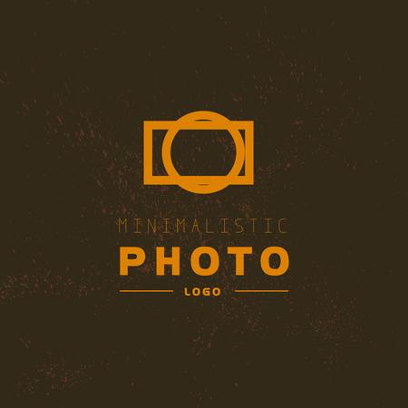 Modelo del vector de la insignia de la foto moderna plana. Diseño de la foto logothype digital. Simple y minimalista foto icono. Bueno para estudio fotográfico, tienda y tienda insignia. Foto de archivo - 51647226