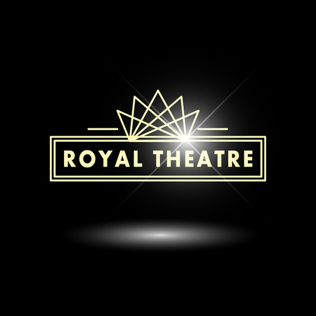 ligh: Vector theatre and ballet perfomance logo template design. Artistic perfomance insignia sample. Advertising icon, graphic design, leaflet, flyer and poster elements.