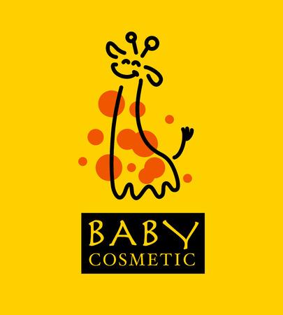 jirafa: Vector ilustración logotipo de la jirafa. Logotipo animal salvaje. Jirafa icono bueno para parque, refugio, reserva, tienda de animales, turístico, viajando Safari empresa, marca cosmética, tienda de juguetes para niños.