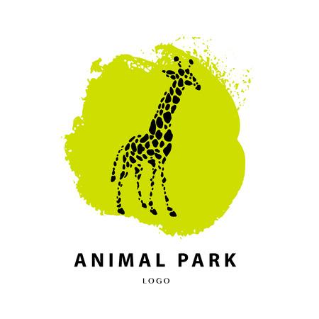 shelter: Vector giraffe logo illustration. Wild animal logo. Giraffe icon good for park, shelter, reserve, pet shop, touristic, safari travelling company, cosmetic brand, kid toys store.