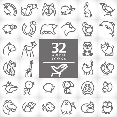 animal cock: Vector piatto semplice animale minimalista. Archivio Fotografico