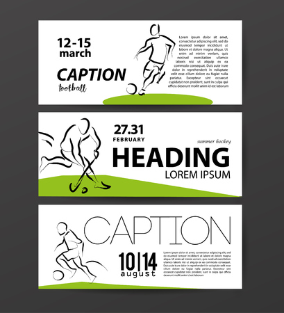 sportsman: Vector hand drawn sportsman silhouette. Football player figure. Flat sport advertising design template. Placard, poster, banner, leaflet, card. Human figure.