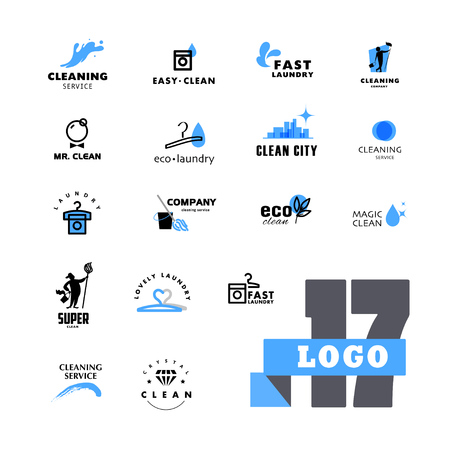 Vector group for cleaning company.