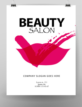 fashion and beauty: Vector fashion cards template. Stock Photo