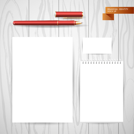 Vector product insignia branding mock up blank notebook clean vector product insignia branding mock up blank notebook clean paper sheet business card colourmoves