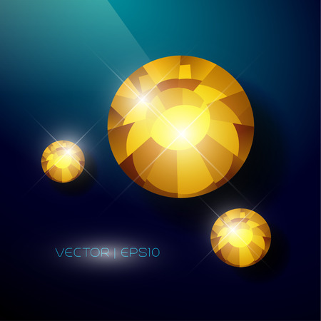 brink: Vector rhinestone gem mock up. Jewelry crystal stone diamond shining illustration. Close up. Rhinestone isolated. Gradient soft light. Glass gem mock up illustration. Jewelry advertising, pattern element Illustration