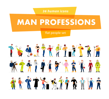 ベクトル フラット男性ポートレート コレクション白い背景に分離されました。男社会のアイコン、性格の文字のグループ。漫画のスタイル。ビジネス イラストです。幸せで、陽気な人々 のアバター デザイン。感情。 写真素材 - 62175864