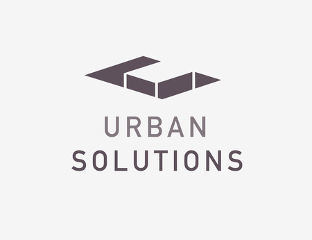 Vector flat abstract architect bureau logo design isolated on light background. Modern urban projects. Smart home design, real estate exclusive projects. Construction & building company brand mark.