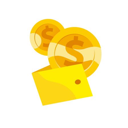 Golden coins icon.
