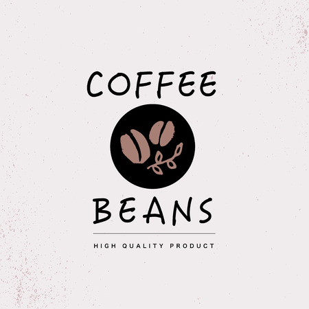 Vector hand drawn coffee logo design elements isolated on textured background.