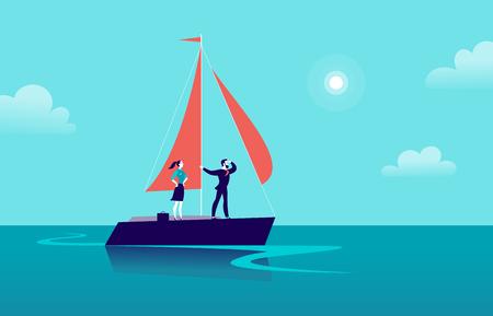Ilustración de negocio plano con empresario