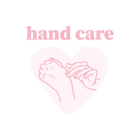 Hand care emblem with human hands stroking each other icon isolated on white background. Vector line art hand drawn illustration. For brand insignia, banner, advertisement, packaging etc.
