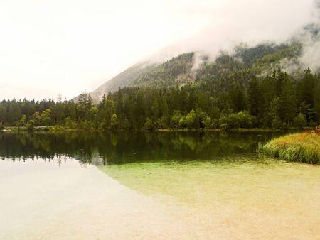 View to the idyllic Hintersee at Berchtesgaden Ramsau, Bavaria German Alps