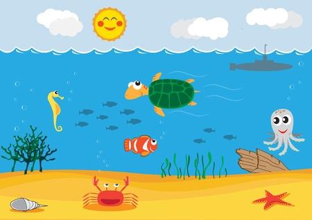 seawater: under sea