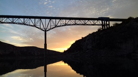 Sunset at Pecos River