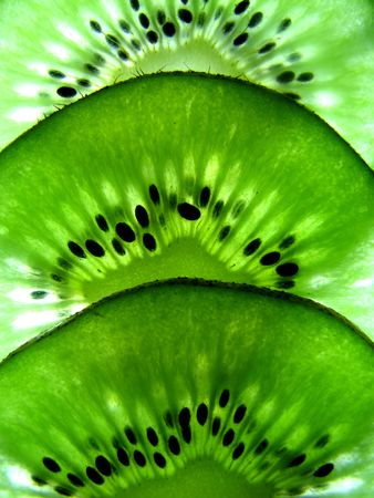 Macro Kiwi Fruit Stock Photo