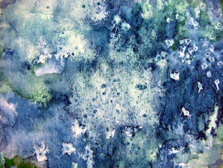 Original Blue Watercolor Art Background